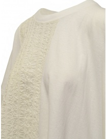 Zucca ivory white blouse with embroidered insert price