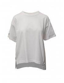 Zucca t-shirt bianca con zip laterale online