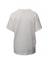 Zucca t-shirt bianca con zip laterale
