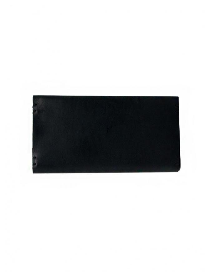 Feit long wallet in black leather AUWTWRL BLACK H.S.RECTANGLE wallets online shopping