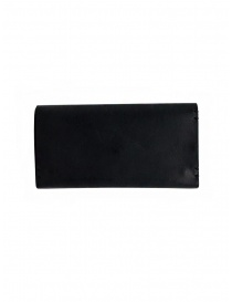 Feit long wallet in black leather price