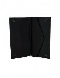 Feit portafoglio lungo in pelle nera portafogli prezzo