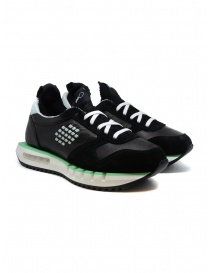 Mens shoes online: BePositive Cyber ​​Run black and green sneakers