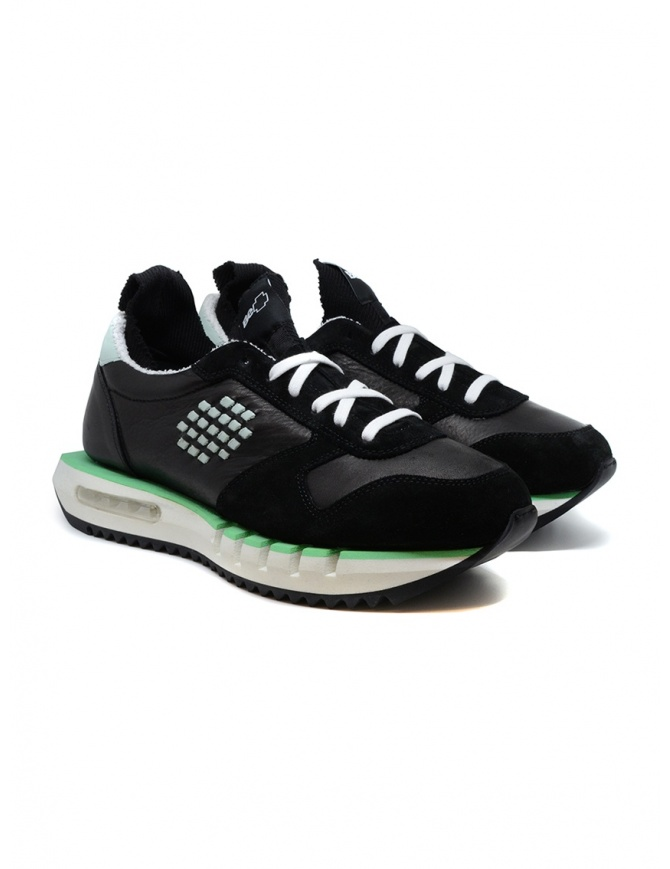 BePositive Cyber ​​Run black and green sneakers CYBER PLUS S0CYBER02/LEA BLK mens shoes online shopping