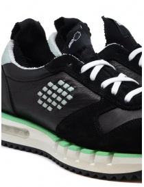 BePositive Cyber ​​Run black and green sneakers mens shoes buy online