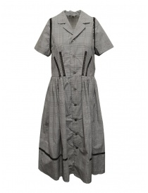 Miyao Prince of Wales check dress in gray MSOP-01 GLEN CHKxBLK order online