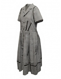Miyao Prince of Wales check dress in gray