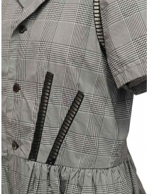 Miyao Prince of Wales check dress in gray womens dresses buy online