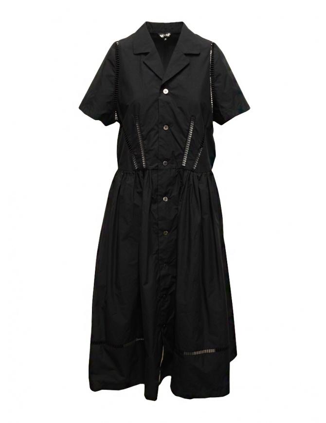 Miyao abito lungo nero con dettagli in pizzo MSOP-01 BLKxBLK abiti donna online shopping
