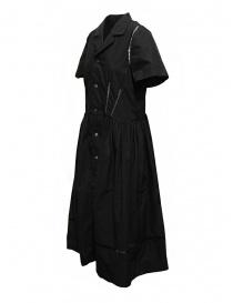 Miyao abito lungo nero con dettagli in pizzo