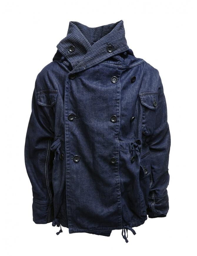Kapital cappotto ad anello in denim blu scuro EK-753 IDG giacche donna online shopping