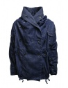 Kapital ring coat in dark blue denim EK-753 IDG price