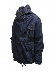 Kapital ring coat in dark blue denim womens suit jackets buy online