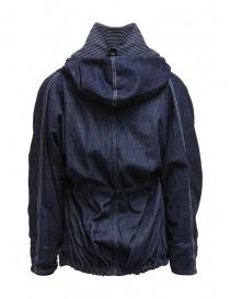 Kapital ring coat in dark blue denim womens suit jackets price