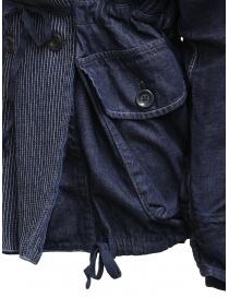 Kapital cappotto ad anello in denim blu scuro acquista online prezzo