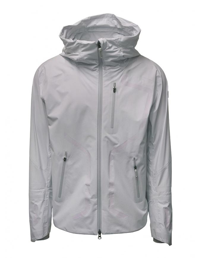 Descente StreamLine white shell jacket DIA3600U GLWH White mens jackets online shopping