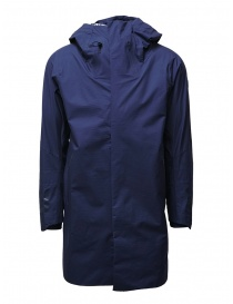 Mens coats online: Descente StreamLine navy blue waterproof coat
