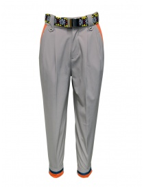 Kolor beige pants with colored belt online