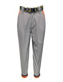 Kolor pantaloni beige con cintura colorata online