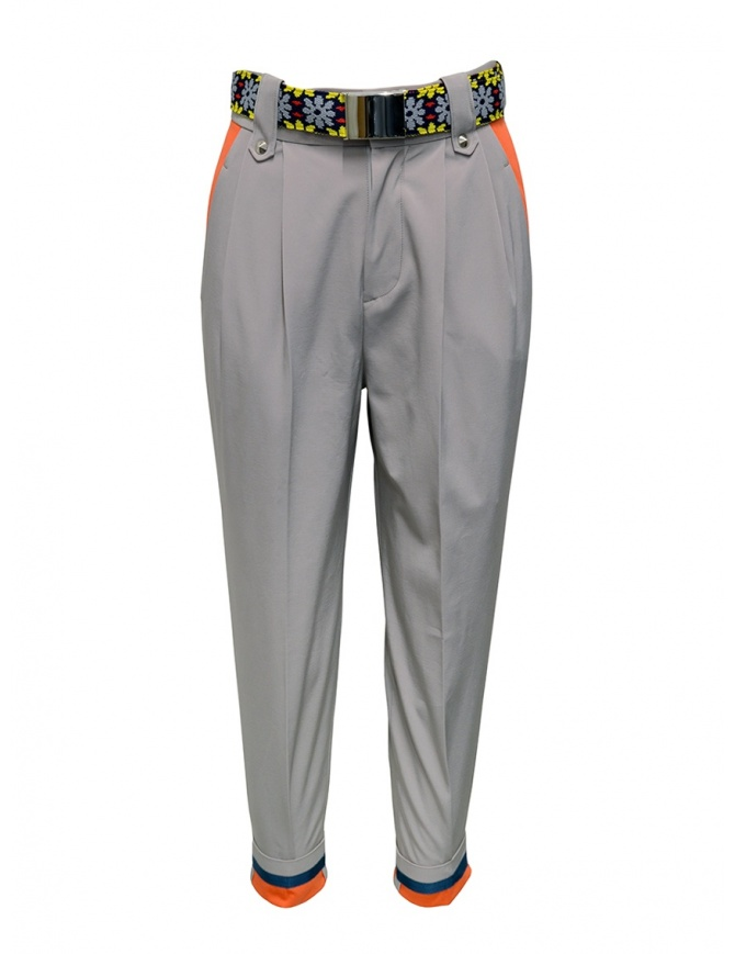 Kolor beige pants with colored belt 20SCL-P03120 BEIGE womens trousers online shopping