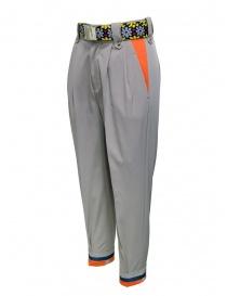 Kolor pantaloni beige con cintura colorata