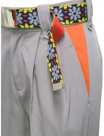 Kolor beige pants with colored belt womens trousers buy online