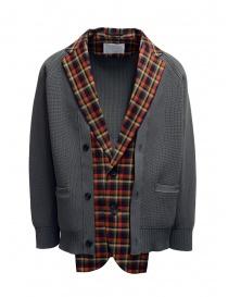 Giubbini uomo online: Kolor giacca cardigan a quadri rossi e blu