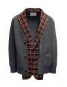 Kolor giacca cardigan a quadri rossi e blu acquista online 20SCM-J03105 NAVYxRED