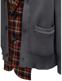 Kolor red and blue checked cardigan jacket price