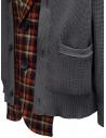 Kolor giacca cardigan a quadri rossi e blu 20SCM-J03105 NAVYxRED prezzo