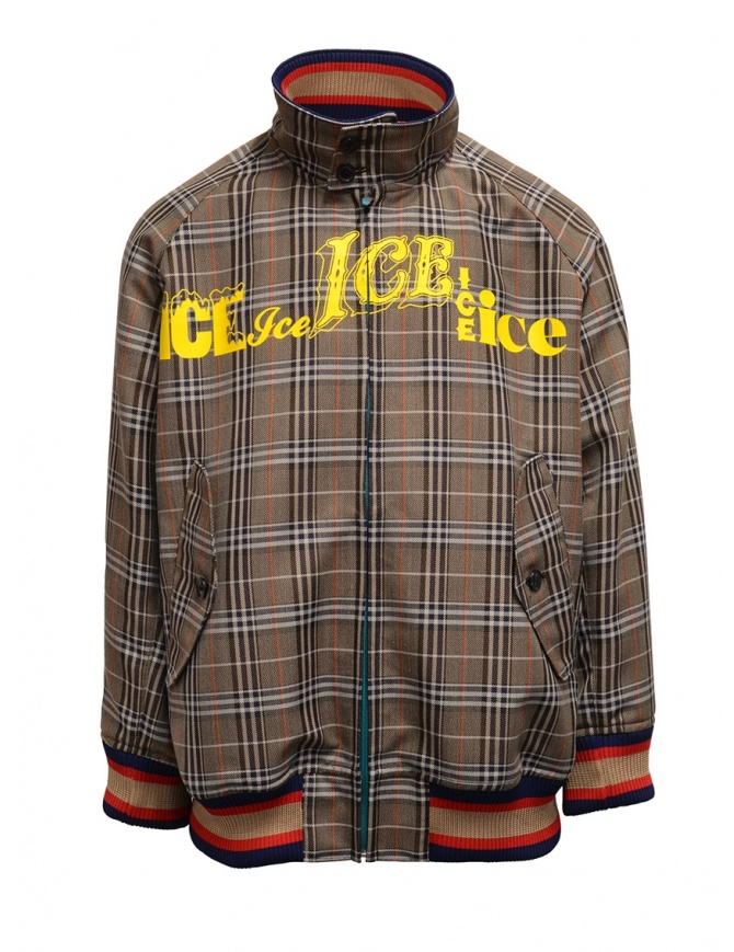 Kolor brown checked bomber jacket 20SCM-G04105 BWNxNAVY mens jackets online shopping