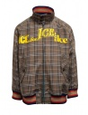 Kolor brown checked bomber jacket buy online 20SCM-G04105 BWNxNAVY