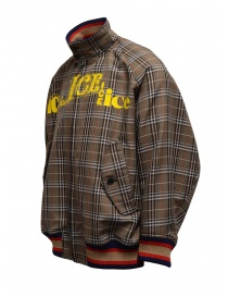 Kolor brown checked bomber jacket