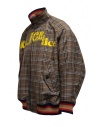 Kolor brown checked bomber jacket shop online mens jackets