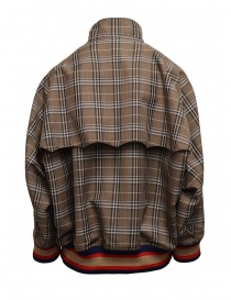 Kolor brown checked bomber jacket price