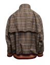 Kolor brown checked bomber jacket 20SCM-G04105 BWNxNAVY price
