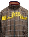 Kolor brown checked bomber jacket 20SCM-G04105 BWNxNAVY buy online