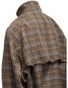 Kolor brown checked bomber jacket price 20SCM-G04105 BWNxNAVY shop online