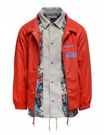 Mens jackets online: Kolor red jacket with floral print