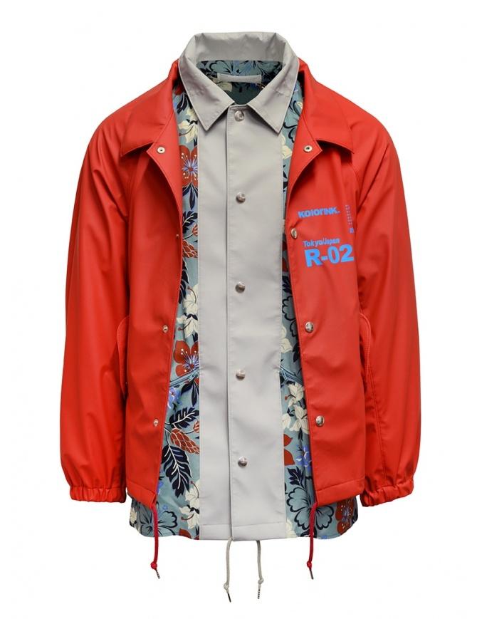 Kolor giacca rossa con stampa a fiori 20SCM-G05112 RED giubbini uomo online shopping