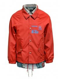 Kolor giacca rossa con stampa a fiori