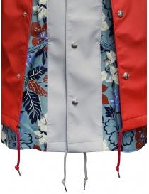 Kolor giacca rossa con stampa a fiori giubbini uomo acquista online