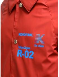 Kolor giacca rossa con stampa a fiori giubbini uomo prezzo