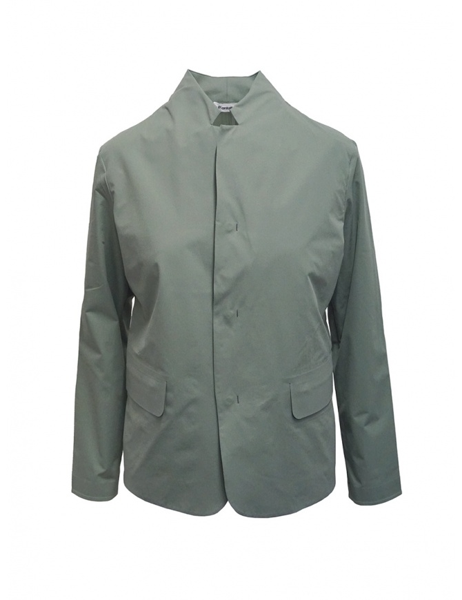 Plantation Mandarin collar jacket in sage green PL07FD002-09 GREEN womens jackets online shopping