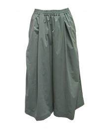 Pantaloni donna online: Plantation pantaloni cropped larghi verde salvia