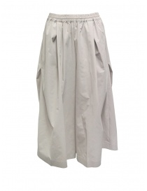 Plantation wide cropped pants in beige online