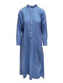 Plantation abito lungo a camicia a righe azzurre online