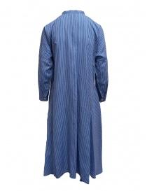 Plantation abito lungo a camicia a righe azzurre