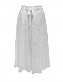 Plantation white crêpe effect skirt with drawstring PL07FG223-01 WHITE order online