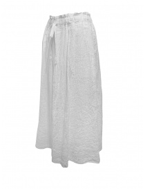 Plantation white crêpe effect skirt with drawstring